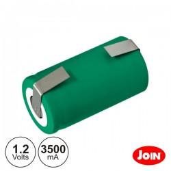 Bateria Ni-Mh Lr14 / C 1.2V 3500Ma c/ Patilhas Join