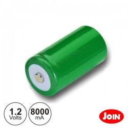 Bateria Ni-Mh D 1.2V 8000Ma