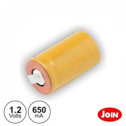 Bateria Ni-Cd 1/2A 1.2V 650Ma