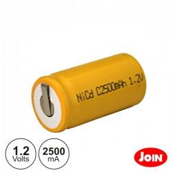 Bateria Ni-Cd C 1.2V 2500Ma c/ Patilhas