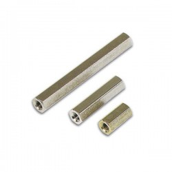 Separador Circuito Impr Hexagonal Metal 10mm M3 Fêmea/Fêmea