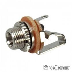 Ficha Jack 3.5mm Fêmea p/Chassis Mn