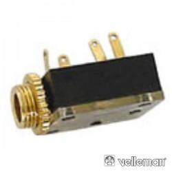 Ficha Jack 3.5mm Fêmea Dourada St