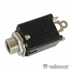 Ficha Jack 6.35mm Fêmea St p/ Chassis c/ Interruptor