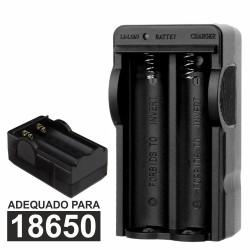 Carregador de Baterias Li-Ion 18650