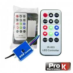 Controlador p/ Fita Rgb Leds c/Comando Rgb 12V Prok
