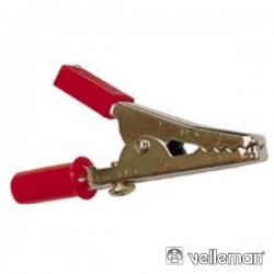Pinça Crocodilo 55mm Vermelha Velleman