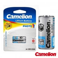 Pilha Lithium Cr123 3.0V-1300mAh (1Pc/Blister) Camelion