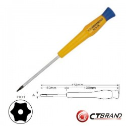 Chave Torx c/ Furo T10H Ctbrand