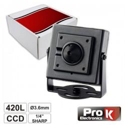 "Câmara Vigilância Ccd Cores 420L 1/4"" Sharp Mini Prok"