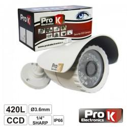 """Camara Vigilância Ccd Cores 420L 1/4"""" Sharp Ip66 Prok"""