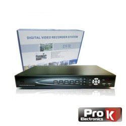 Vídeo-Gravador Digital 8 Canais Quad H264 Ethernet Prok