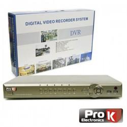 Vídeo-Gravador Digital 16 Canais Vga H264 Ethernet Prok