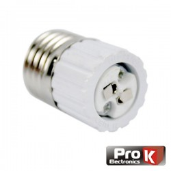 Casquilho Adaptador de E27 p/ Mr16 Prok