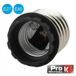 Suporte Adaptador p/ Lâmpada E40 p/ E27 Prok