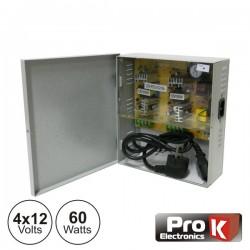 Fonte de Alimentação Industrial 4X12V 60W - Prok