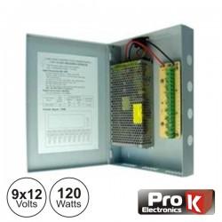 Fonte de Alimentação Industrial 9X12V 120W Prok