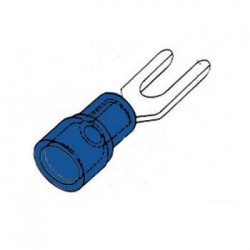 Terminal Forquilha Isolado 3.7mm 10X Azul Blister
