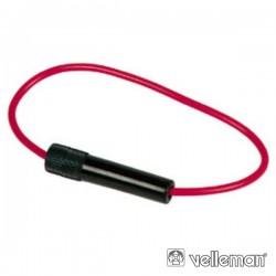 Porta-Fusíveis In-Line 5X20mm E 6.35mmx30mm Fecho de Rosca
