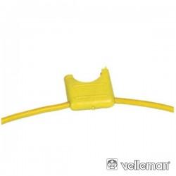 Porta-Fusíveis Automóvel Amarelo
