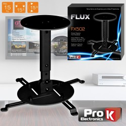 Suporte Vídeoprojector Tecto Universal 15Kg Flux Prok