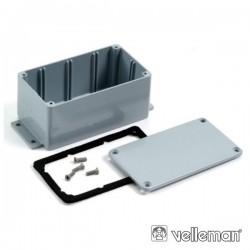 Caixa Selada Abs Cinza Escuro 222X146X55mm
