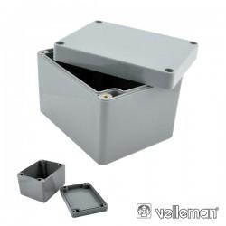 Caixa Selada Abs Cinza Escuro 115X90X80mm