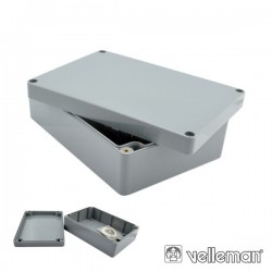 Caixa Estanque Abs Cinza Escuro 222X146X75mm