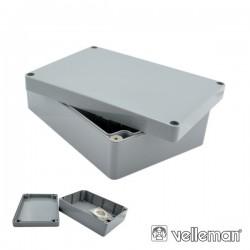 Caixa Estanque Abs Cinza Escuro 120X120X90mm