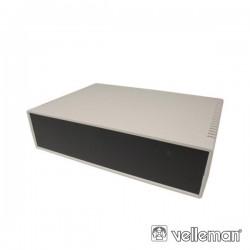 Caixa Abs 260X180X65mm Cinza Claro / Preto