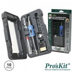 Ferro de Soldar a Gás c/ Kit Auto Ignição Pro'sKit