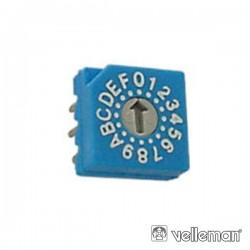 Comutador Bcd c/ Código Hexadécimal p/ Ci Velleman
