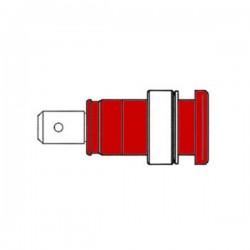 Ficha de Segurança Isolada 4mm / Vermelha (Seb 2620-F6,3)