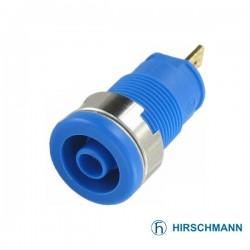Ficha de Segurança Isolada 4mm / Azul Hirschmann