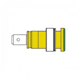 Ficha de Segurança Isolada 4mm Amarela/Verde (Seb 2620-F6,3)