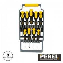 Conjunto de Chaves de Fendas E Philips 9X Perel