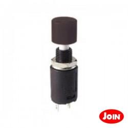 Interruptor de Pressão Miniatura Preto