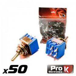 Interruptor Alavanca Mini On/Off (50Pcs) Prok