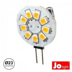 Lâmpada G4 1.5W 10-30V 9 Leds Branco Frio Jolight