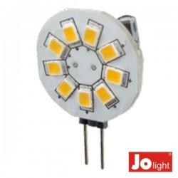 Lâmpada G4 1.2W 12V 9 Leds Branco Quente Jolight
