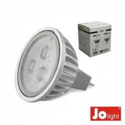 Lâmpada G5.3 3.2W 10-30V 3 Leds Mr16 Branco Frio
