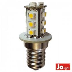 Lâmpada LED E14 10-30Vdc 1.3W Branco Quente