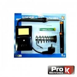Kit Soldadura Ferro 20/130W dessoldador/Suporte/Solda Prok