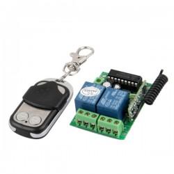 Kit Emissor Receptor de 2 Canais E 1 Comando