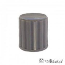 Botão Cinza c/ Linha Branca 14X16mm