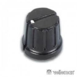 Botão Preto c/ Ponto Branco 15.5X3mm