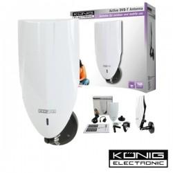 Antena Tdt Interior / Exterior Amplificada 20Db Konig