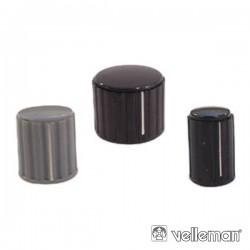 Botão Preto c/ Linha Branca 20X16mm