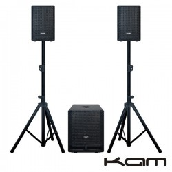 Conjunto Som Amplificado Pro 400W Kam