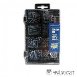 Kit c/ Parafusos (M2,M3,M4) E Anilhas 300 Peças Velleman